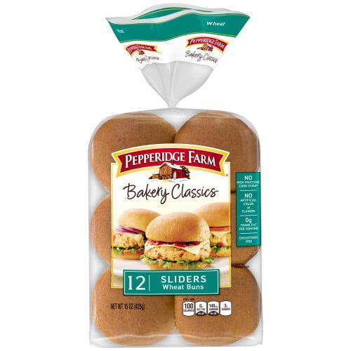 Pepperidge Farm Bakery Classics Wheat Slider Buns, 15 oz. Bag, 12-pack