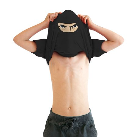 youth ninja disguise flip t shirt funny cool costume mask tee for - Skirts For Kids