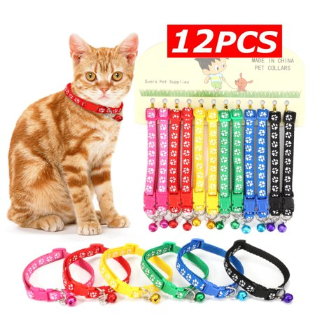 12Pcs Pet Classic Personalized Dog Collar Adjustable Seatbelts 6 Color  - image 5 de 12
