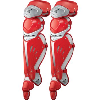 Easton Mako youth baseball catchers gear leg guards Red 1...
