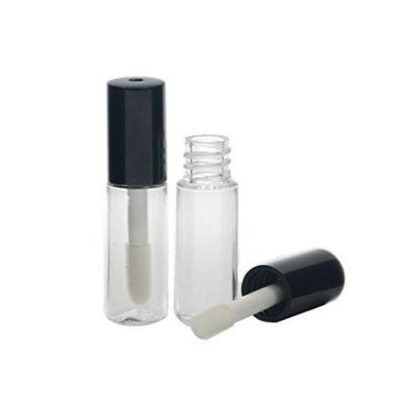 705fe3ee4a18 10Pcs 1.2ML Mini Reusable Empty Clear Plastic Lip Gloss Balm Tube Bottle  DIY Lipstick Container Vials (Black)