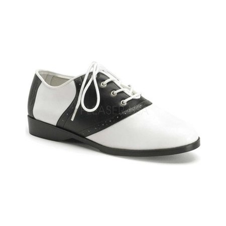 Saddle Men's Costume Shoes, Black/White