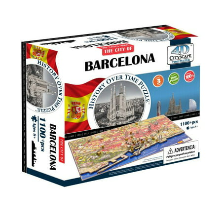 Image of 4d Cityscape Barcelona History Time