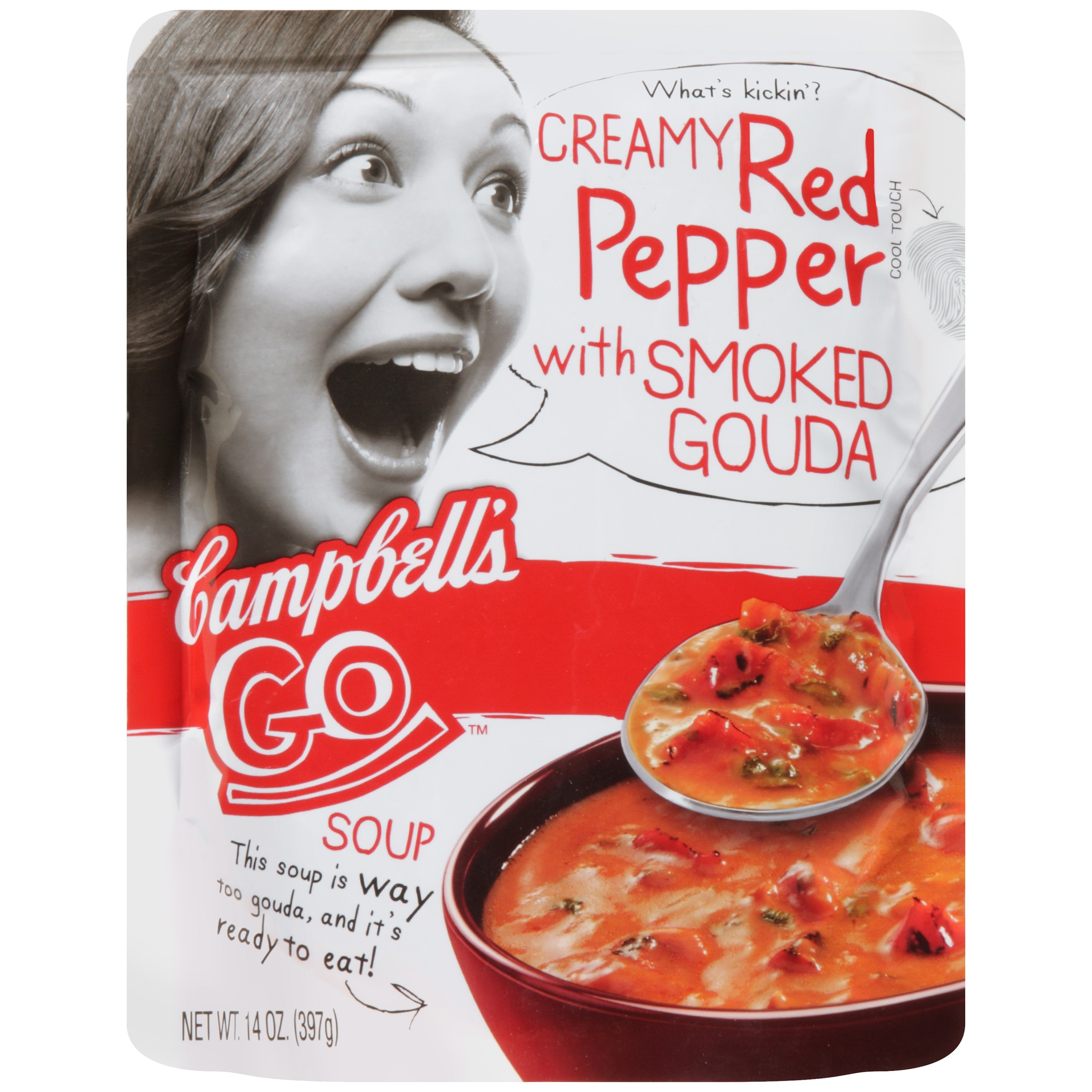 Campbell's Go Creamy Red Pepper & Gouda Soup, 14 Oz by Campbell's