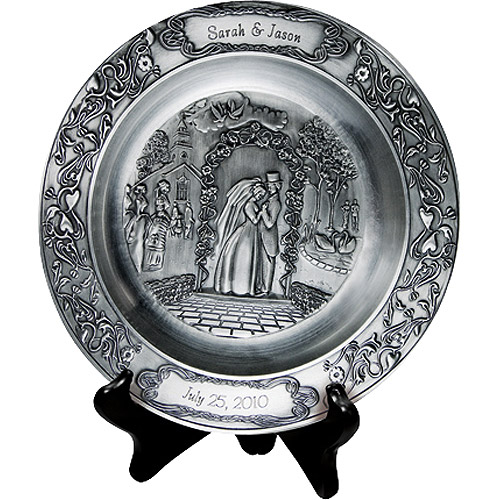Personalized Wedding Pewter Plate