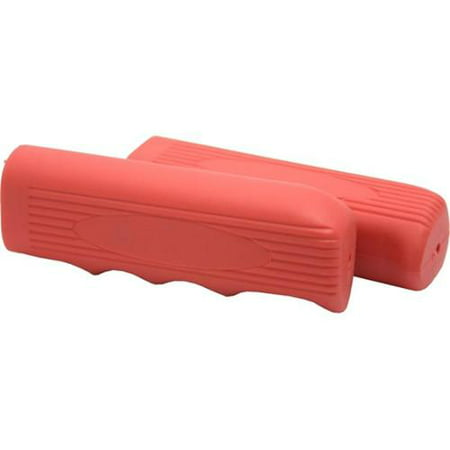 2 Pc Duo Bicycle Parts Beach Cruiser Red Handlebar Grips Replace