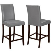 A Line Furniture Medlin Contemporary Grey Parson Style Counter Height Stools (Set of 2)