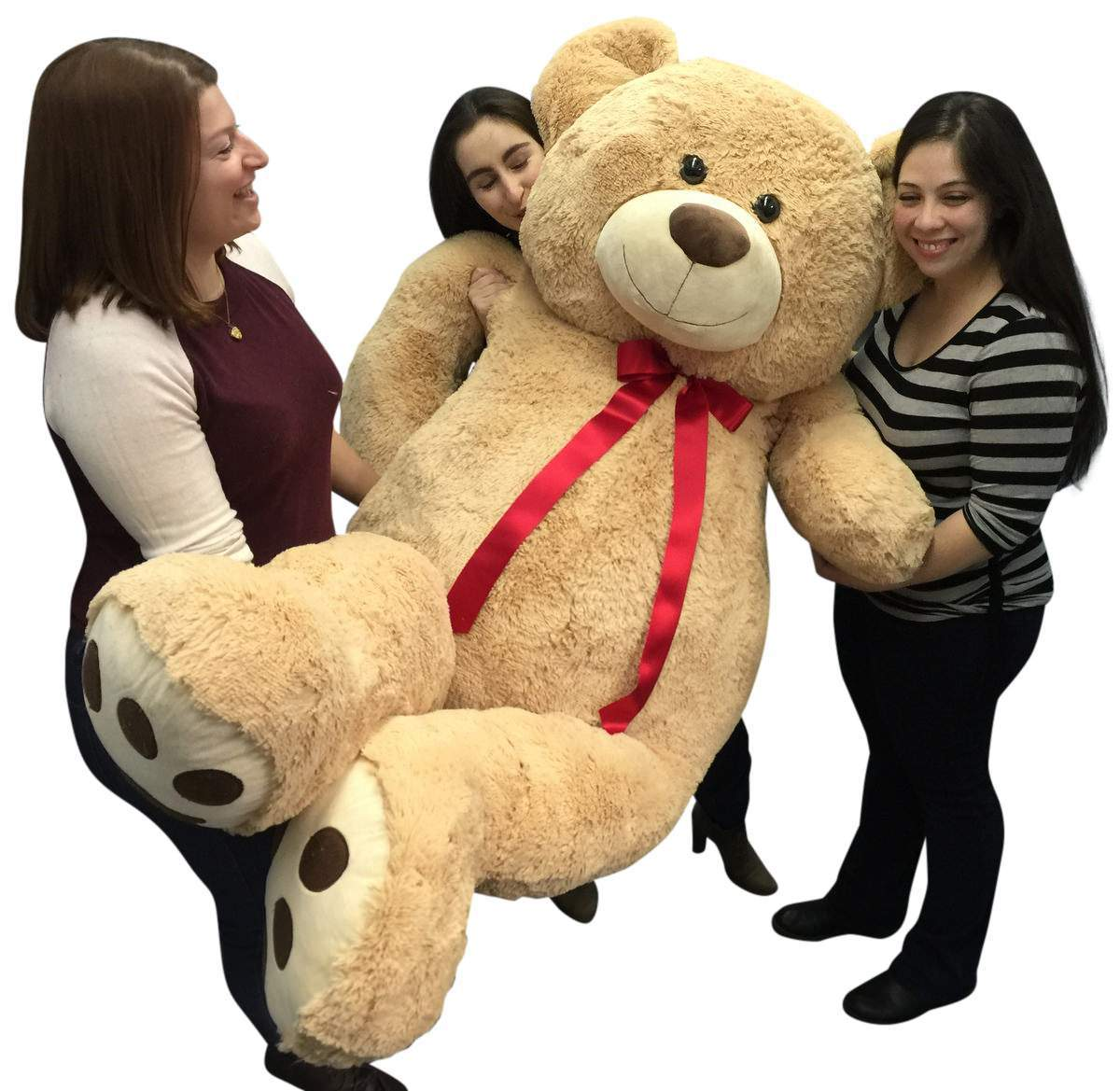 Big Plush Giant 6 Ft Teddy Bear 72 Inch Tan Soft Oversized Teddybear Weighs 22 Pounds