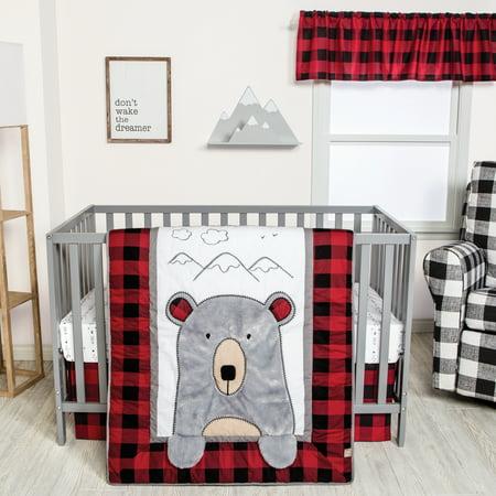 Peak-a-Bear 3 Piece Crib Bedding Set ()