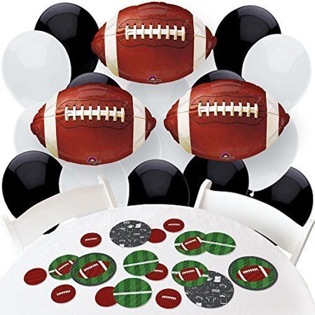 End Zone - Football - Confetti and Balloon Baby Shower or Birthday Party Decorations - Combo Kit