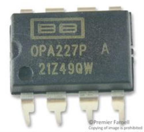 10X NO.83K8705 Texas Instruments Opa227Pa Ic, Op-Amp, 8Mhz, 2.3V  Us, Dip-8 by Texas Instruments