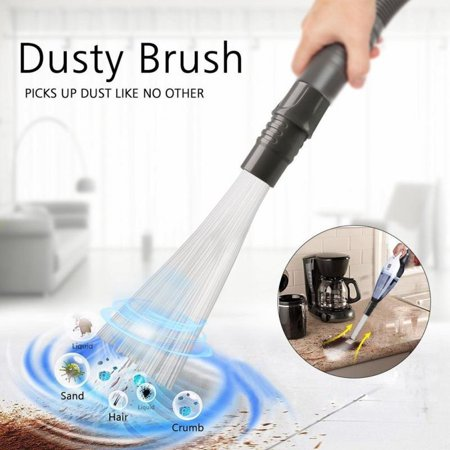 Dust Daddy Cleaner Brush Vacuum Attachment, Universal Dirt Remover, Handy Convenient Tool for Home,Corners, Pets, -