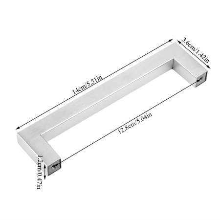 Qiilu Stainless Steel Brushed Cabinet Closet Cupboard Drawer Handle Furniture Accessory, Kitchen Cabinet Handle, Closet Handle - image 2 of 8