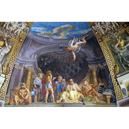 LAMINATED POSTER Ceiling Italy Fresco Dome Rome Vatican Decoration Poster Print 24 x 36 - Italy Decorations