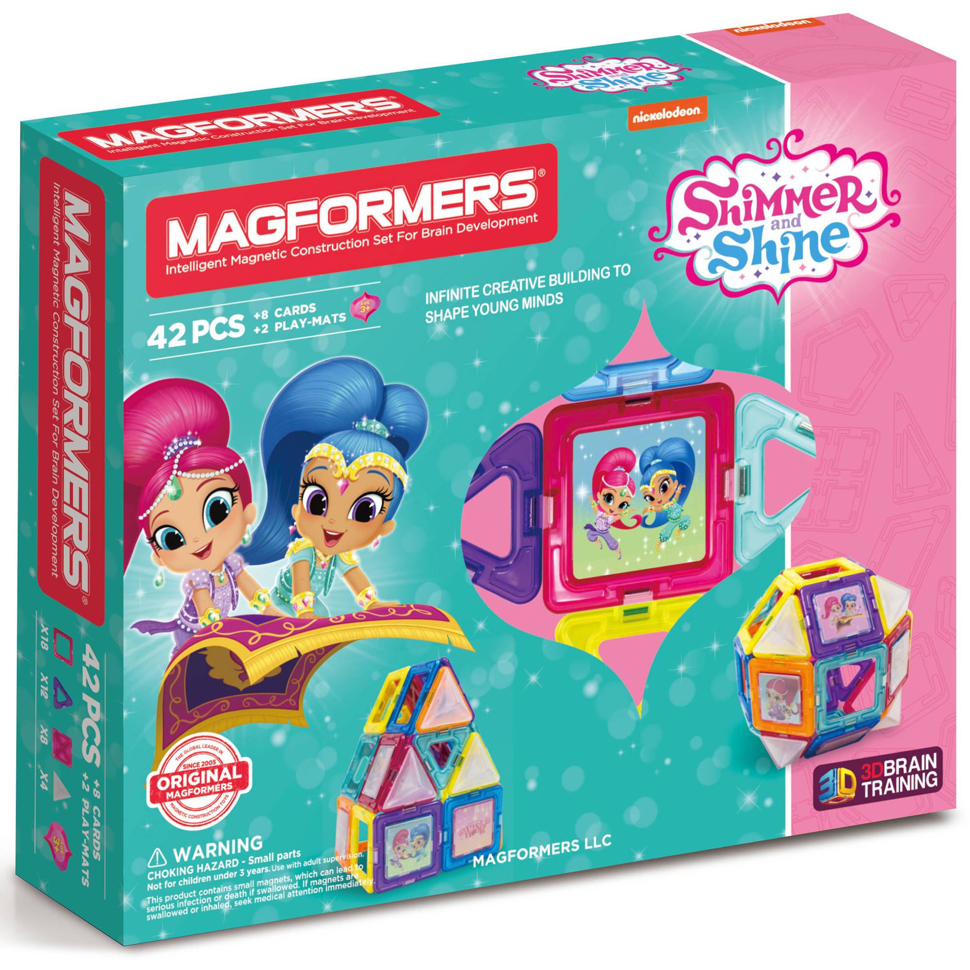 MAGFORMERS Shimmer and Shine 42-Piece Magnetic Construction Set