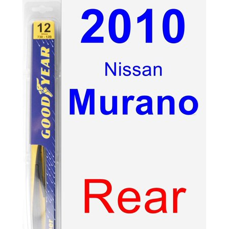 2010 Nissan Murano Rear Wiper Blade - Rear