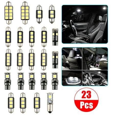 23-pack LED White Car Inside Light Kit Vehicle Dome Door Courtesy Trunk Mirror License Plate Lamp Bulbs (Cab Light Kits)