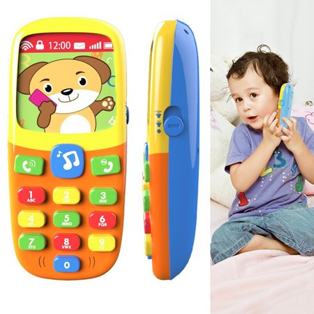 Child Music Mobile Phone Toys For Toddler Kids Telephone Learning Toys Cartoon Music Phone Education Baby Cell Phone Toys For 1 Year Old Girl Toys For
