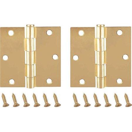 Prosource 2750354 3.5 x 3.5 in. Door Hinge Thick Leaf Steel - Satin Brass - image 1 de 1