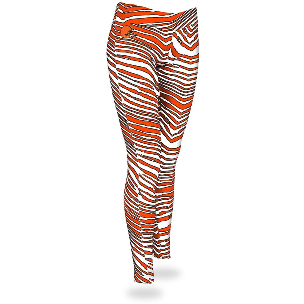 Cleveland Browns Zubaz Women's Leggings - Orange/White