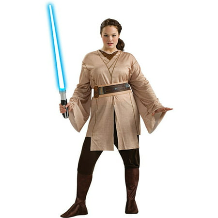 Jedi Knight Plus Adult Halloween Costume, Size: Women's Plus - One Size](Womens Jedi Costume)