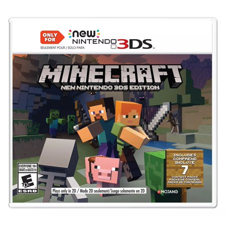 Nintendo Minecraft New Nintendo 3DS Edition Puzzle Game Portuguese French Create and