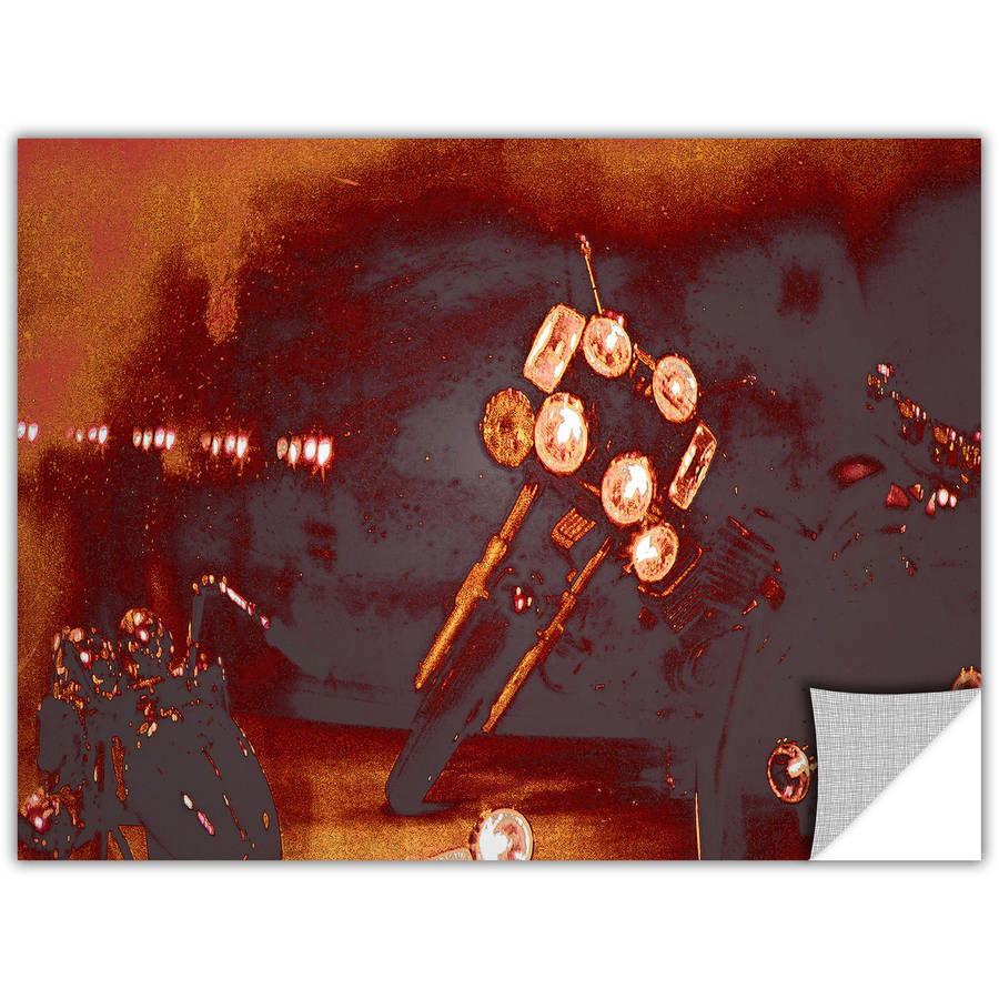 "Artapeelz Dean Uhlinger ""Cycles And Smoke"" Removable Wall Art Graphic"
