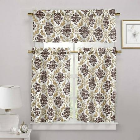 Melbourne Faux Linen Kitchen Curtain ()