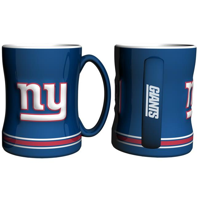 New York Giants Coffee Mug - 14oz Sculpted Relief