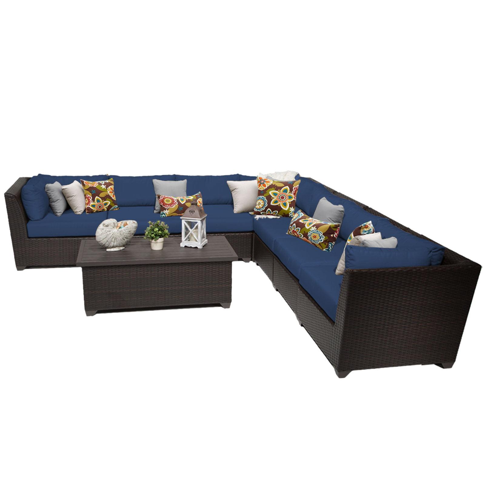 Bermuda 8 Piece Outdoor Wicker Patio Furniture Set 08a by TK Classics