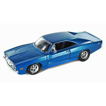 1969 Dodge Charger R/T Hard Top, Blue - Maisto 31256 - 1/24 Scale Diecast Model Toy Car
