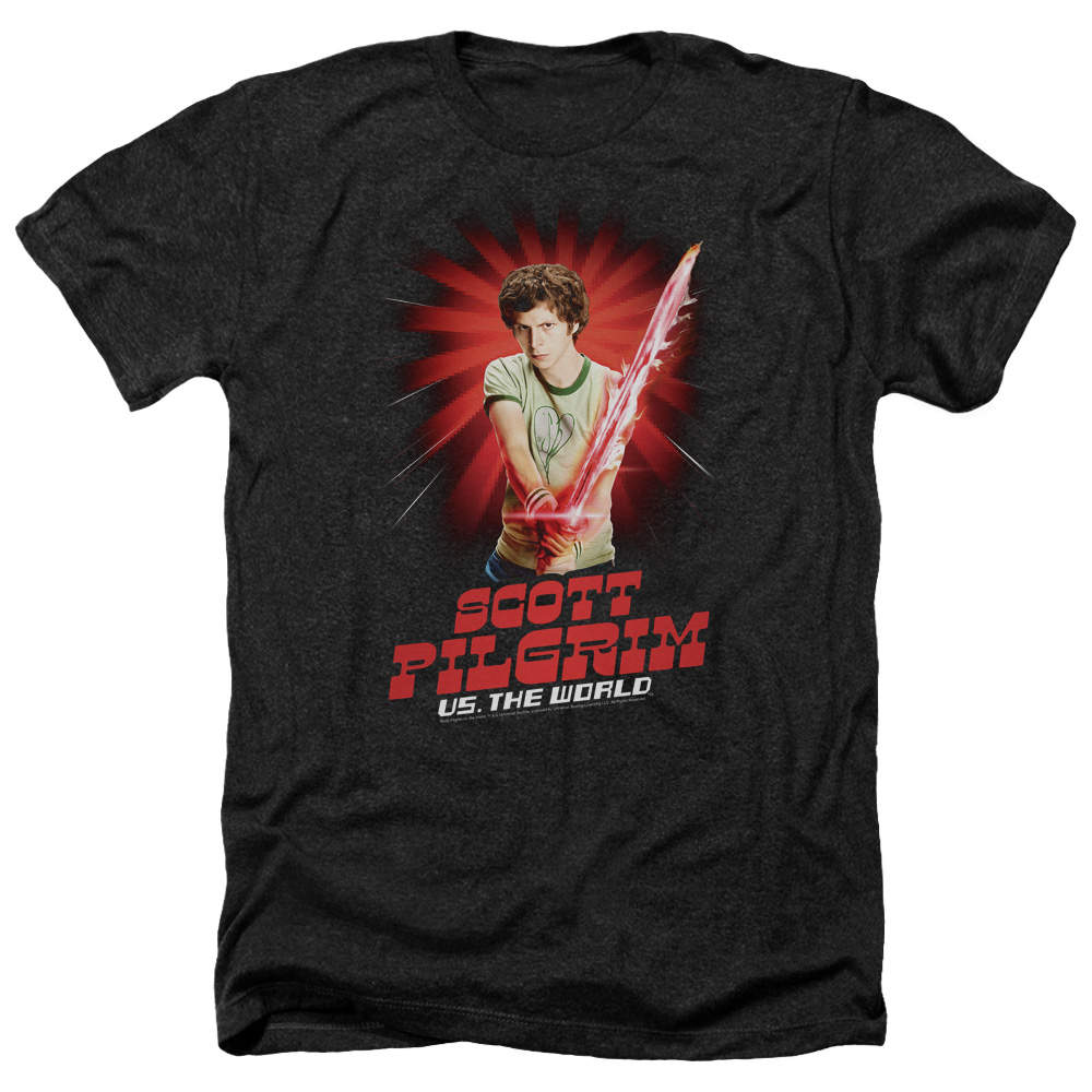Scott Pilgrim Super Sword Mens Heather Shirt