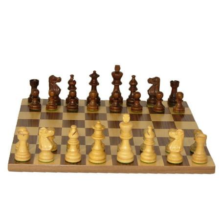 WorldWise Imports Walnut and Maple Chess Set