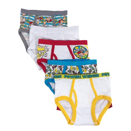 Captain Underpants Boys Briefs, 5 Pack
