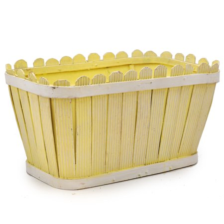 Springtime Picket Fence Planter 8in
