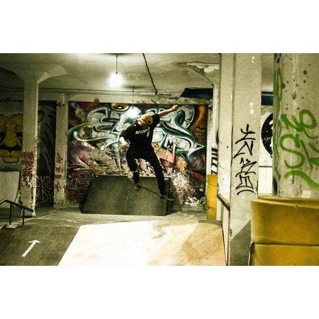 Laminated Poster Skateboard Jump Skating Poster Print 11 x