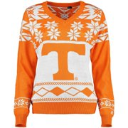 Tennessee Volunteers Klew Women's Ugly Christmas V-Neck Sweater - Tennessee Orange