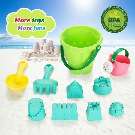 Fitnate Pool Toys Bath Beach Sand Castle Soft Plastic For Kids Boys S