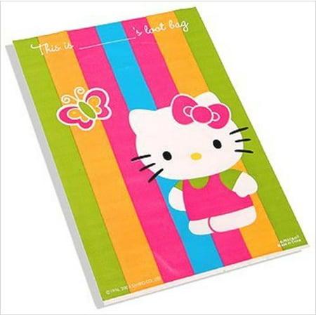 Hello Kitty 'Rainbow Stripes' Favor Bags - Hello Kitty Treat Bags