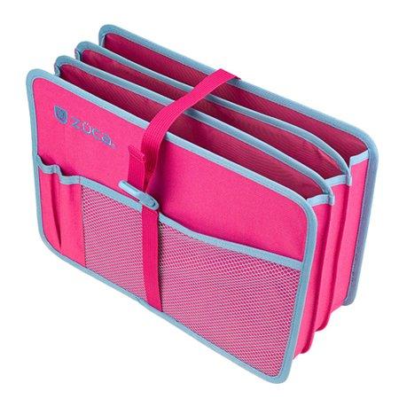 Zuca Expandable Document + Book + Supplies Organizer (Pink/Blue)