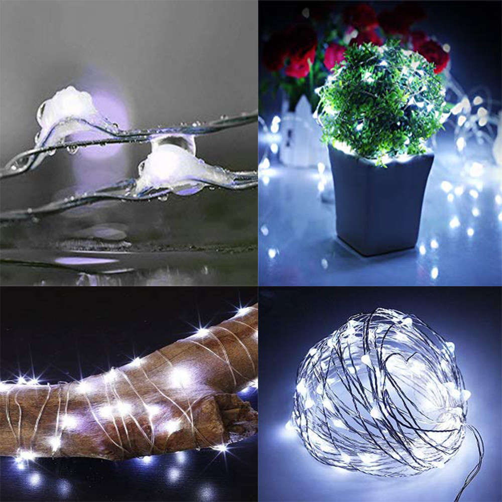 Christmas Decor String Lights Electric Plug-in Multi Color Change 100 Led