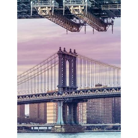 Manhattan bridge over East river - New York City Canvas Art - Assaf Frank (18 x