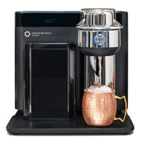 Drinkworks Home Bar By Keurig, Drink Maker, Brews Wine, Cider, Beer, and Mixes Cocktails, Pods Sold Seperately, Black