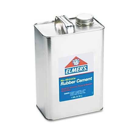 - Elmer's No-Wrinkle Acid-Free Rubber Cement, 1 gallon