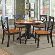 Homestyles 5-Piece Dining Set Black and Cottage Oak Finish