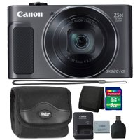 Canon PowerShot SX620 HS 20.2MP 25X Zoom Wifi / NFC  Full HD 1080p Digital Camera  (Black) with 8GB Top Accessory Kit