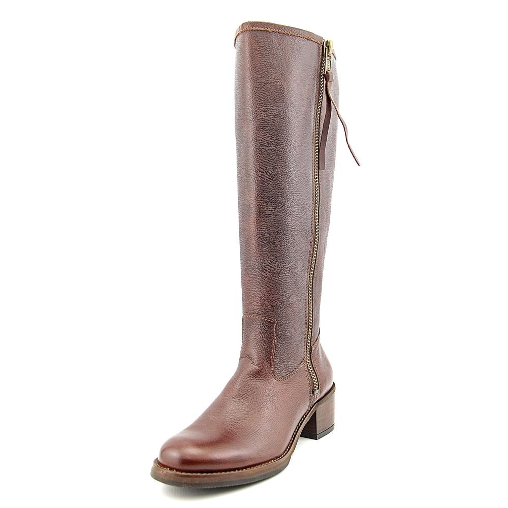 Lucky Brand Hyperr Women  Round Toe Leather Brown Knee Hi...