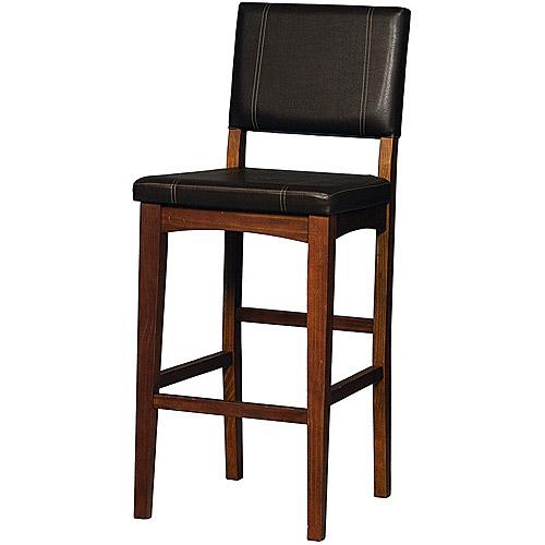 Linon Milano Bar Stool Brown 30 Inch Seat Height