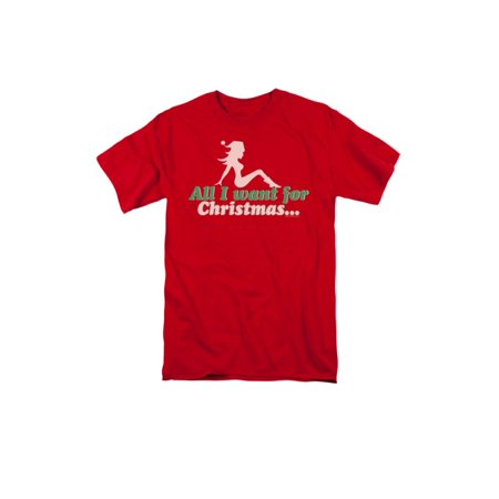 All I Want Santa Funny Humorous Dirty Christmas Humor Joke Adult T-Shirt