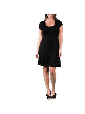 Women's Plus Size Short Sleeve A-Line Dress